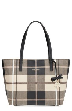 This Kate Spade tote with a bold, graphic pattern is going on the wish list.