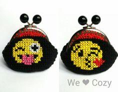 Emoji purse crochet cross stitch – We Love Cozy