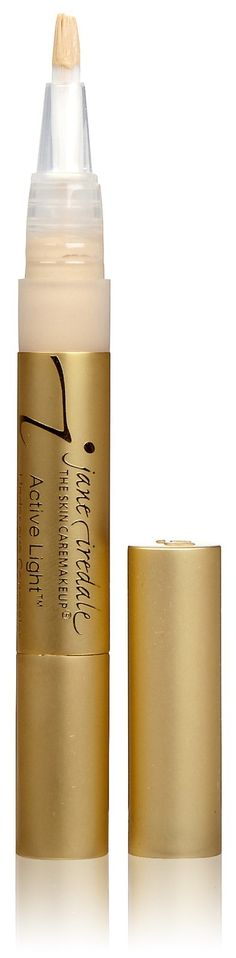 Jane Iredale Active Light- This is our favorite tool to use against those pesky under-eye circles! They are no match for Active Light. Active Light covers AND reflects light, which opens the eyes and makes them appear more youthful. Active Light also makes a great highlighter.