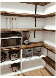 Pantry Room, Pantry Closet, Kitchen Pantry Cupboard, Walk In Pantry, Kitchen Pantry Design, New Kitchen, Kitchen Ideas, Kitchen Interior, Interior Modern