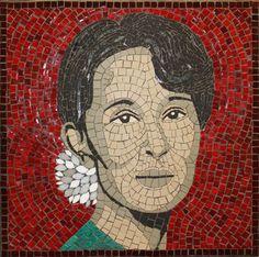 "Saatchi Online Artist Southbankmosaics Gallery; Installation, ""Aung San Suu Kyi"" #art"