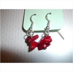 Red Gemstone chip handmade earrings Listing in the Earrings,Women,Artisan & Hand Crafted,Jewellery & Watches Category on eBid United Kingdom