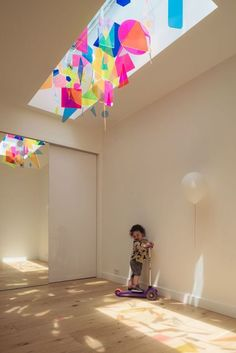 Mobiles, Home Decor Inspiration, Design Inspiration, Ceiling Installation, Bright Homes, New Shape, Learning Spaces, Kids Room Design, Kids Store