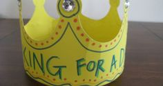 An Eco-friendly Fathers Day Craft for Kids  – King for a Day Crown   #fathersday #kidscraft