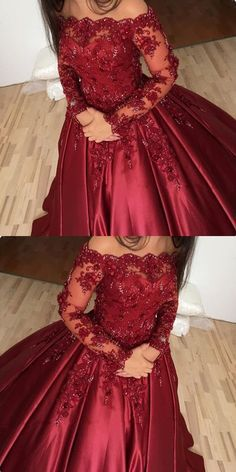 Long sleeve prom dress lace - Prom Dresses Simple, burgundy prom dress, off shoulder ball gowns, lace long sleeves prom dress – Long sleeve prom dress lace Ball Gowns Prom, Ball Dresses, Evening Dresses, Maxi Gowns, Chiffon Dresses, Dresses Dresses, Party Dresses, Casual Dresses, Summer Dresses