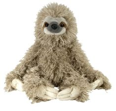 Slow down and take a long look at the Stuffed Sloth 12 Inch Cuddlekin by Wild Republic! Measuring twelve inches, our plush sloth is extremely durable and super huggable. This sloth stuffed animal is not just cuddly, it's also authentically colored and Drachenfels Design, Three Toed Sloth, Cute Sloth, Plush Animals, Stuffed Animals, Stuffed Toys, Sock Animals, Crochet Animals, Pet Toys