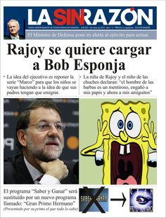 Rajoy se quiere cargar a Bob Esponja