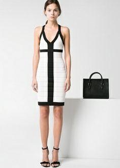 Monochrome body con dress - MANGO