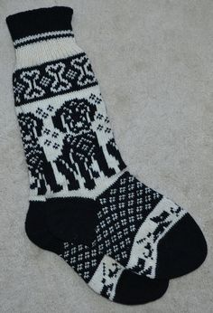NORWEGIAN Hand Crafted 100% wool socks and by NordicStarStudio