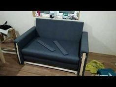 Делаем раскладной диван своими руками - YouTube