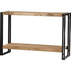 Union Rustic Jeremiah Console Table | Wayfair.co.uk Console Table Canada, Industrial Console Tables, Wooden Console Table, Industrial Metal, Industrial Style, Outdoor Console Table, Ikea White Side Table, Ikea Lack Side Table, Ikea Lack Coffee Table