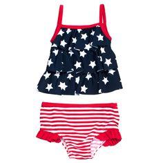 2-piece stars and stripes tankini | Baby Girl Swim