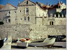 A photo of the walls of Korcula Town. Korcula Croatia, Croatian Islands, Bosnia, Archipelago, Eastern Europe, Dalmatian, Montenegro, Slovenia, Homeland