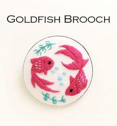 【期間限定】『金魚ブローチ』刺繍キット