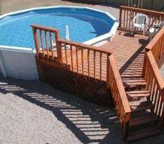 Simple above ground pool deck by mavis