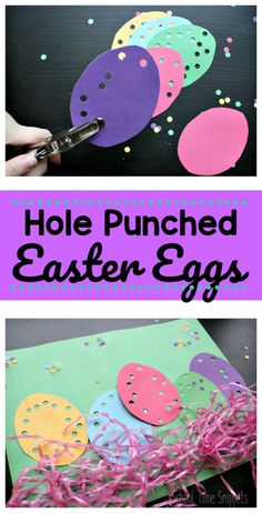 Easy Easter Fine Motor Skills Craft - - This Easter Egg craft is a great way to strengthen those all important fine motor skills, and it's easy and fun for the kids to do, too! Such a simple way to keep little hands busy this Easter! Easter Crafts For Toddlers, Easter Art, Easter Crafts For Kids, Toddler Crafts, Crafts To Do, Easter Decor, Easter Ideas, Easter Centerpiece, Children Crafts