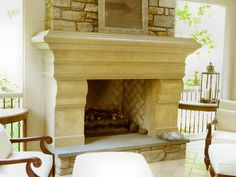 Custom fireplace by Atmosphyre