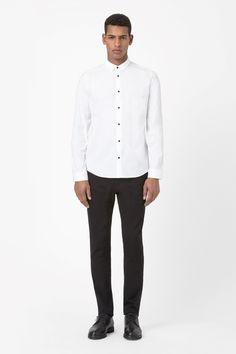 COS | Contrast button shirt