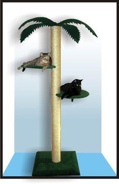 Palm cat tree