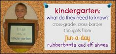 rubberboots and elf shoes: ready for kindergarten?