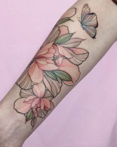 """1,574 Likes, 7 Comments - Barcelona 10-17 of March (@nora_ink) on Instagram: """"Inspiration #nora_ink#tattoo#sashatattooingstudios#art#peonytattoo#watercolortattoo"""""""