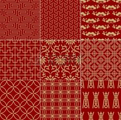 Vietnamese fabric.  Red is considered lucky.