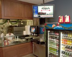 Photo of our local ad network as it appears in Peppino's in the Somers Common Shopping Center.  With over 100,000 customers annually, it is a perfect location for businesses to advertise for about $4.00 a day.