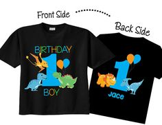 My 1st Birthday Shirts and Tshirts with Dinosaur by TheCuteTee