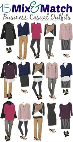 Mix and Match business casual outfits from Target. Update your look for Fall without breaking the bank!