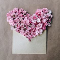 send your love and caring, flower heart