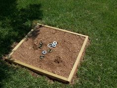 washer pits for backyard a big hit with the kids - Carpet Ball Table