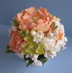 The Petalsweet Blog: Peony Sugar Flower Vase