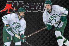 Matt Prapavessis has been named Third-Team All-WCHA, while Ruslan Pedan earned a spot on the WCHA All-Rookie Team. Bemidji State University, Hockey Teams, Third, Baseball Cards, Sports, Men, Hs Sports, Excercise, Guys