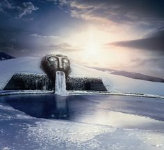 The Swarovski Crystal Head Fountain in Austria | Inspired!