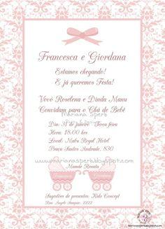 Mariana Sperb: Convite Chá de Bebê Provençal Menina