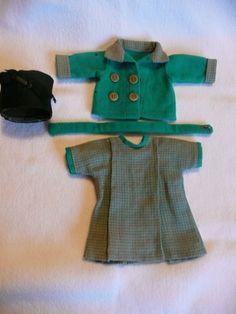 tenue bleuette dite trotinette de 1927 tailleur et jaquette assortie bon etet