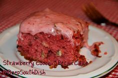Southern Strawberry Cake w/pecans