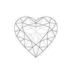 heart diamond Diamond Tattoo Designs, Diamond Tattoos, Heart Tattoo Designs, Gem Drawing, Diamond Drawing, Diamond Art, Gem Tattoo, Jewel Tattoo, Crystal Drawing