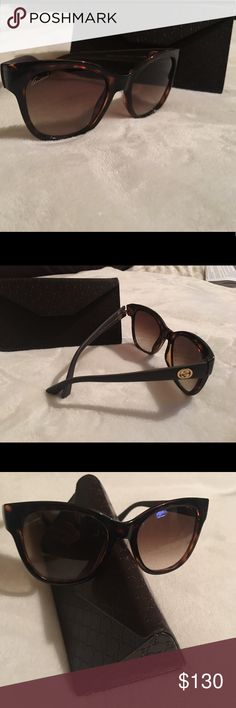 Gucci Sunglasses Gucci sunglasses in great condition. The front of the frame is a tortoise brown and the lens color is a gradient brown. The frame size is 54-20-140, frame #GG/3786 Gucci Accessories Glasses