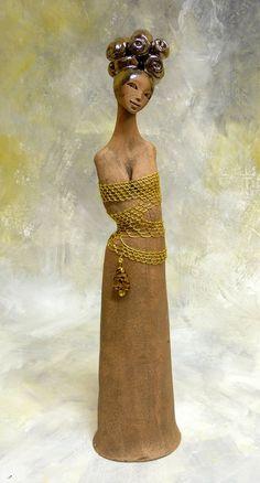 http://www.facebook.com/pages/KB-Galerie/561079683915422 Kateřina Baranowska: Jinga - zlatě drátkovaná - rezervováno
