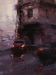 A Red Glimpse by Tibor Nagy Oil ~ 16 x 12