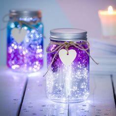 Personalised Sparkle LED Ombre Jar jar crafts for kids Sparkle LED Ombre Jar Pot Mason Diy, Mason Jar Crafts, Bottle Crafts, Mason Jars, Diy Galaxy Jar, Galaxy Crafts, Diy Crafts For Teen Girls, Fairy Jars, Mason Jar Fairy Lights