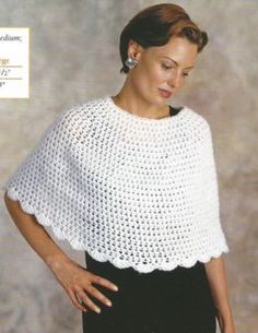 Crochet Crocheting Pattern for a Town & Country Capelet Shawl Warm Clothes