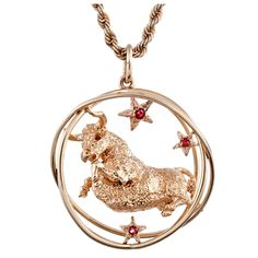 1stdibs | WILLIAM RUSER Stylized Taurus Pendant