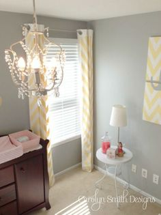 Gray and Yellow Nursery I did for a client.