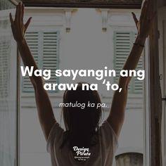 One Mapúa (@OneMapua) | Twitter Funny Hugot Lines, Hugot Lines Tagalog Funny, Tagalog Quotes Patama, Bisaya Quotes, Tagalog Quotes Hugot Funny, Memes Tagalog, Happy Quotes, Memes Pinoy, Filipino Funny