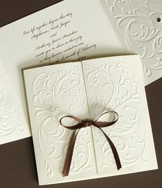 handmade wedding invitations ideas | Traditionally, modern wedding invitations are mailed in double ...