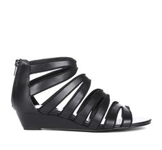 Strappy Mini Wedge Sandal