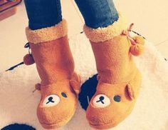 Kawaii of the Day 385 - Rilakkuma Boots! Rilakkuma, Sock Shoes, Cute Shoes, Me Too Shoes, Looks Kawaii, Kawaii Cute, Totoro, Kawaii Fashion, Cute Fashion