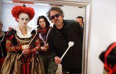 "Helena Bonham Carter on ""Alice in Wonderland"" set"